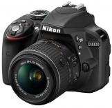 Nikon D3300 SLR-Digitalkamera Kit (24 Megapixel, 7,6 cm (3 Zoll) TFT-LCD-Display, Live View, Full-HD) inkl. AF-S DX 18-55 VR II Objektiv schwarz - 1