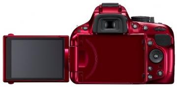 Nikon D5200 SLR-Digitalkamera (24,1 Megapixel, 7,6 cm (3 Zoll) TFT-Display, Full HD, HDMI) nur Gehäuse rot - 2
