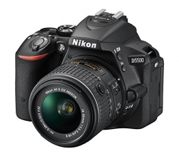 Nikon D5500 SLR-Digitalkamera (24 Megapixel, 8,1 cm (3,2 Zoll) Touchscreen-Display, bildstabilisiert, Full-HD-Video, Wi-Fi) Kit inkl. 18-55mm VR II Objektiv schwarz - 1