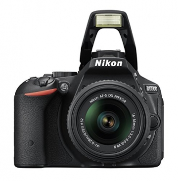 Nikon D5500 SLR-Digitalkamera (24 Megapixel, 8,1 cm (3,2 Zoll) Touchscreen-Display, bildstabilisiert, Full-HD-Video, Wi-Fi) Kit inkl. 18-55mm VR II Objektiv schwarz - 4