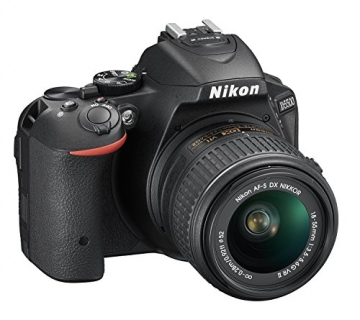 Nikon D5500 SLR-Digitalkamera (24,2 Megapixel, 8,1 cm (3,2 Zoll) Neig- und drehbares Touchscreen-Display, 39 AF-Messfelder, ISO 100-25.600, Full-HD-Video, Wi-Fi, HDMI) Kit inkl. DX 18-55 mm VR II Objektiv schwarz - 2