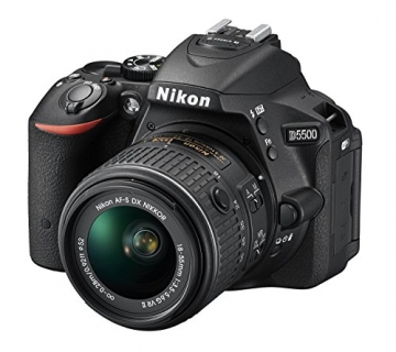 Nikon D5500 SLR-Digitalkamera (24,2 Megapixel, 8,1 cm (3,2 Zoll) Neig- und drehbares Touchscreen-Display, 39 AF-Messfelder, ISO 100-25.600, Full-HD-Video, Wi-Fi, HDMI) Kit inkl. DX 18-55 mm VR II Objektiv schwarz - 1