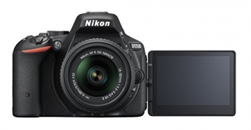 Nikon D5500 SLR-Digitalkamera (24,2 Megapixel, 8,1 cm (3,2 Zoll) Neig- und drehbares Touchscreen-Display, 39 AF-Messfelder, ISO 100-25.600, Full-HD-Video, Wi-Fi, HDMI) Kit inkl. DX 18-55 mm VR II Objektiv schwarz - 3