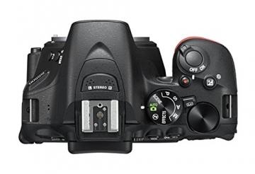 Nikon D5500 SLR-Digitalkamera (24,2 Megapixel, 8,1 cm (3,2 Zoll) Neig- und drehbares Touchscreen-Display, 39 AF-Messfelder, ISO 100-25.600, Full-HD-Video, Wi-Fi, HDMI) nur Gehäuse schwarz - 3